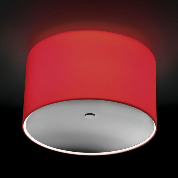 Round PL GLASS Ceiling lights, red with glass lense