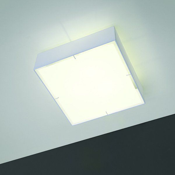 The square Zenit ceiling light white