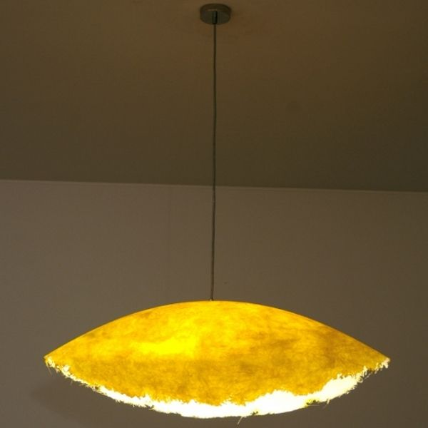 Suspension lamp 0050/0051 in yellow