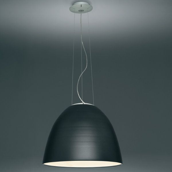 An anthracite-grey Nur pendant light