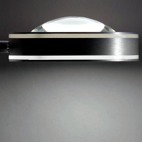 Vio wall light aluminium with clear lens