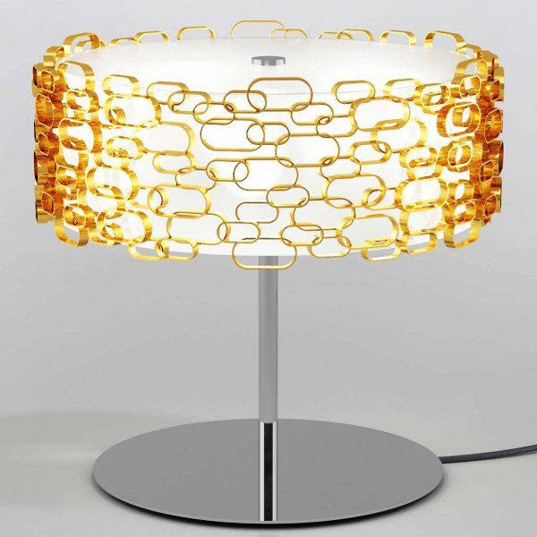 A gold Glamour table light