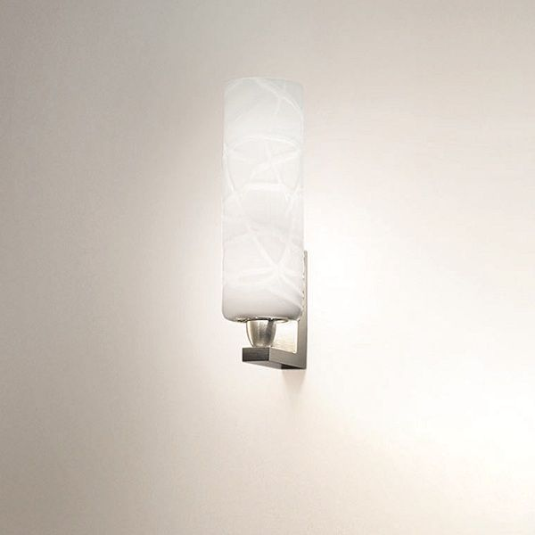 Follia AP 1 Wall sconce, white with crystal threads