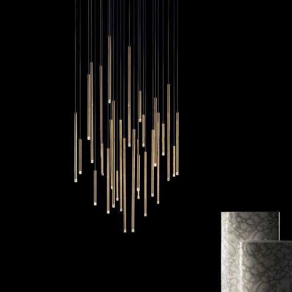 A-Tube Nano pendant light, Gold