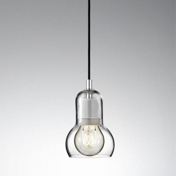 Bulb SR1 pendant light, power cord - black