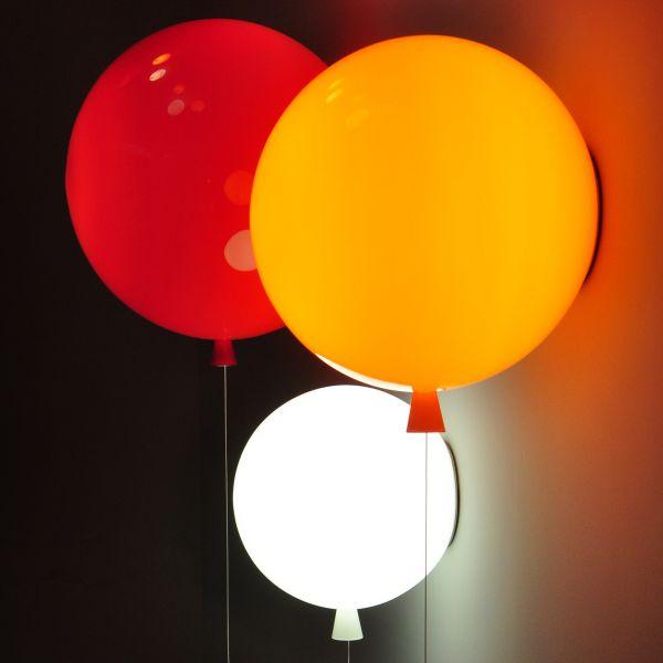 Memory 25 Wandleuchte - Rot / Orange / Weiß