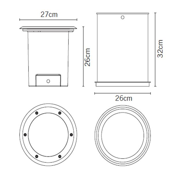 Measurements for Cricket F30 Recessed light