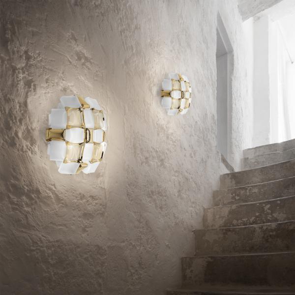 Mida wall lamp, gold