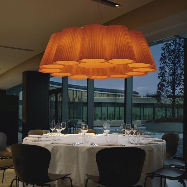 Florinda 12 pendant light, orange