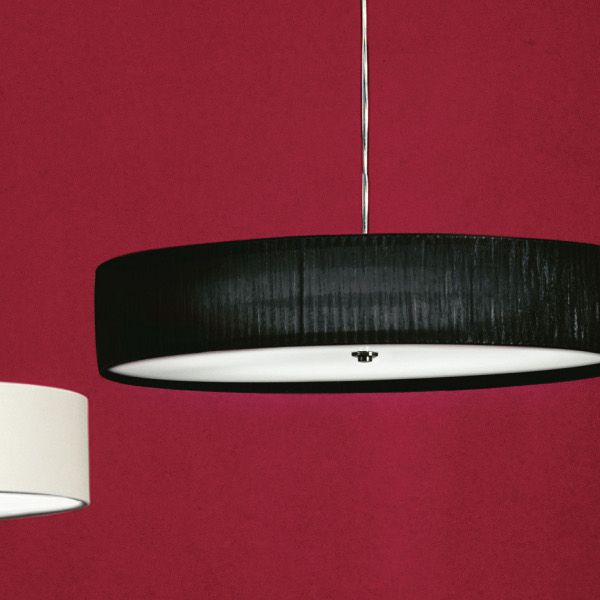 Discovolante E27 D60 Pleated Fabric pendant light