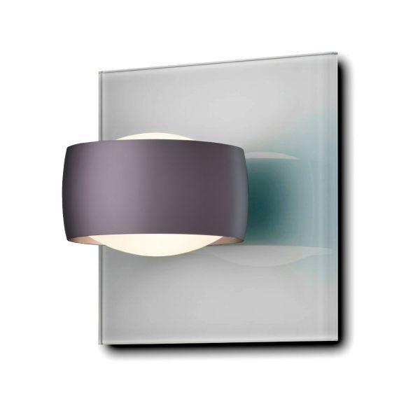 Grace Unlimited LED Wandleuchte, Grau / Espresso