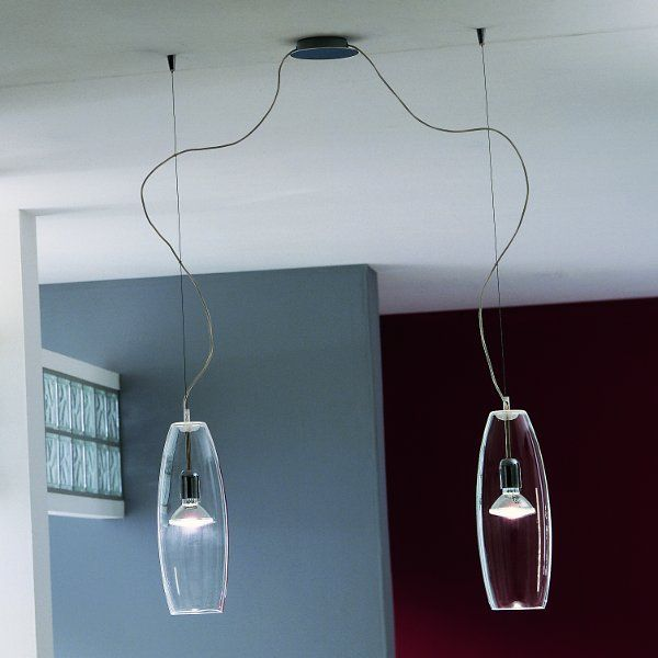 The Peroni S16D2 pendant light with clear lampshades