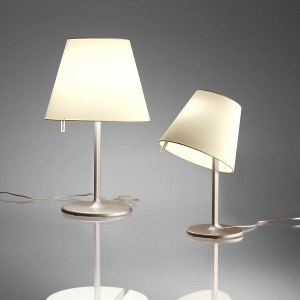 Melampo tavolo/notte table lights in natural and bronze