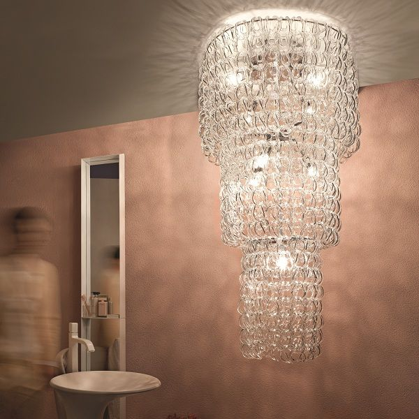 Giogali PL CA3 Ceiling fixture, crystal clear