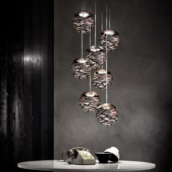 Kelly Cluster 7 Spheres Pendant light, bronze