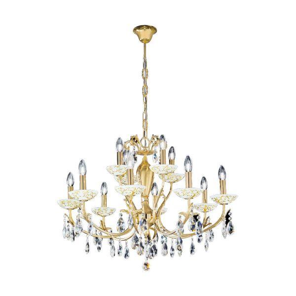 Victoria II 12 Kristallleuchte, albero gold design (auf Anfrage erhältlich)