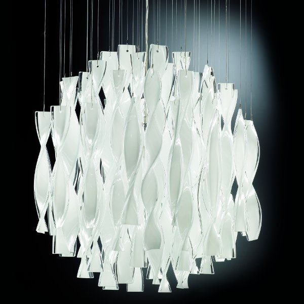 The Aura SP 45 pendant light white