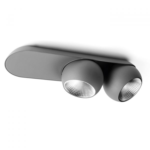 Marbul Double Wall- and Ceiling light, grey