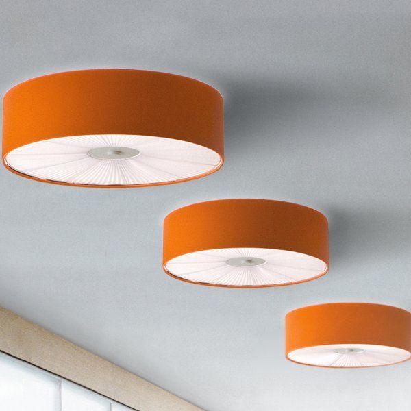 Skin PL 70 Ceiling fixture, orange and white