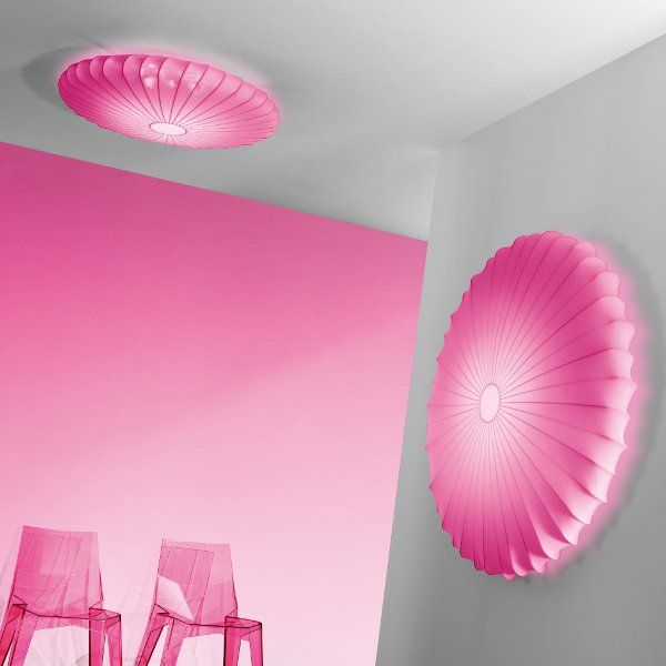 Muse PL ceiling fixture and wall sconce in pink
