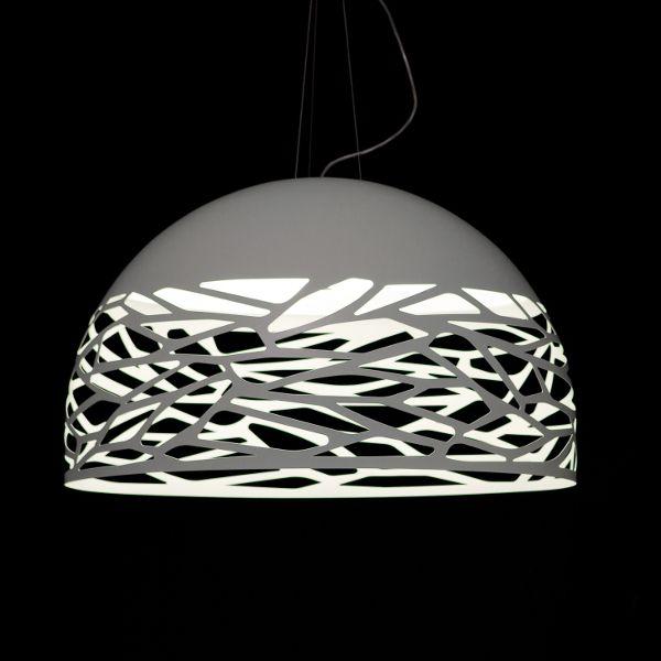 Kelly Dome Pendant light, white