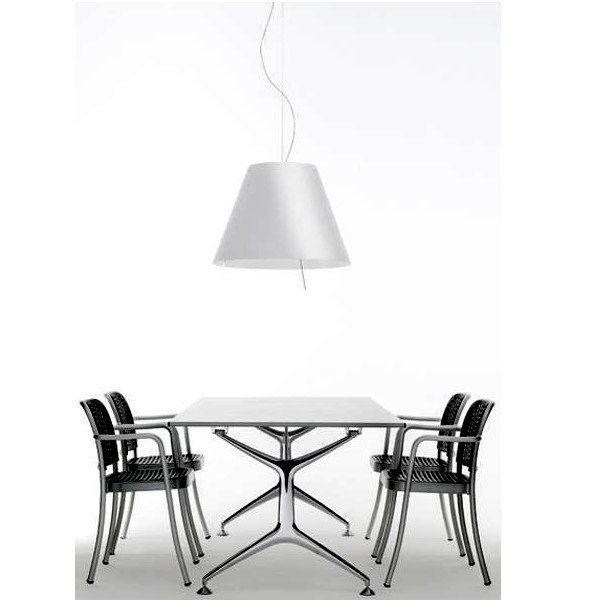 Grande Costanza D13G s./ i./ flu./ hqi Pendant light, example in living area