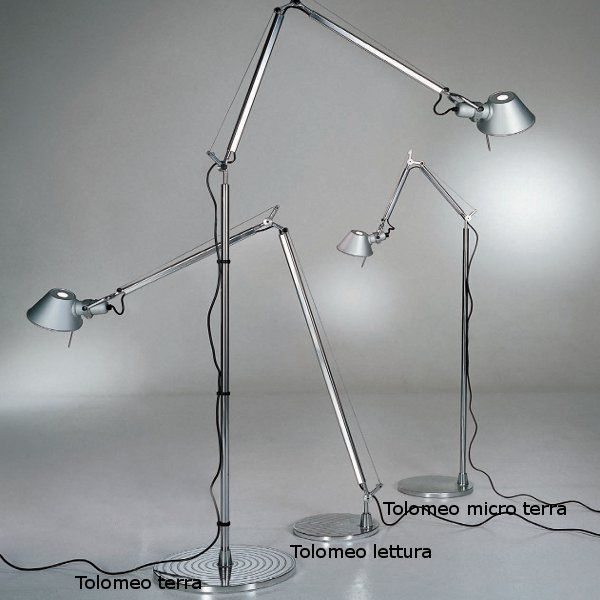 The Tolomeo lettura, Tolomeo terra and Tolomeo micro terra floor lights