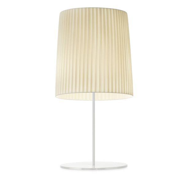 Romeo Table Light white / pleated fabric