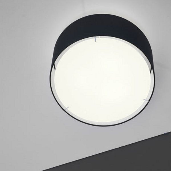 The round Zenit ceiling light black