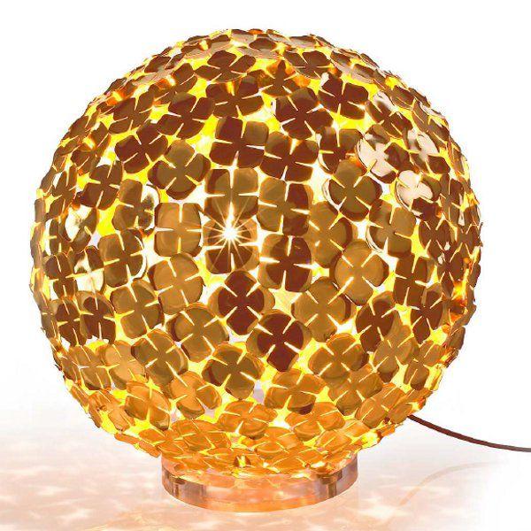 Orten`zia 50/70 floor light, gold-plated