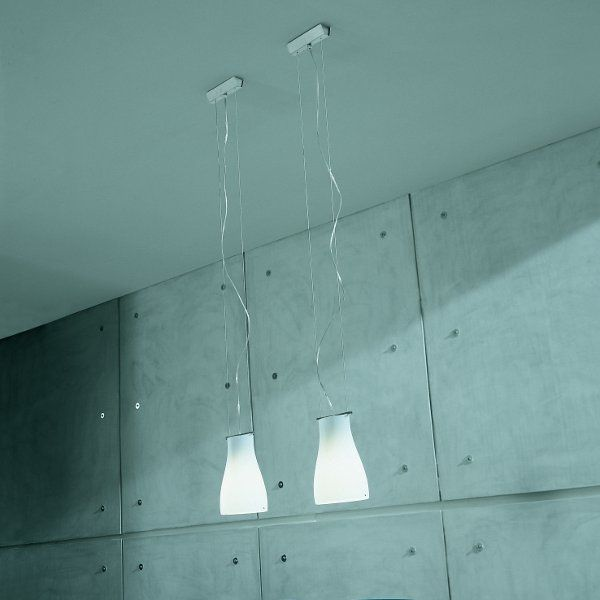 Two of the Bell S0 pendant lights