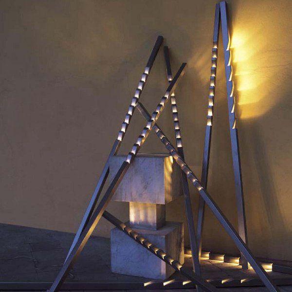 The Zig floor light combined with a  Zag floor light
