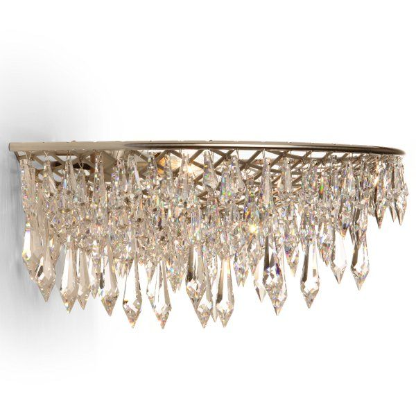 b14825ba22eff Anthologie Quartett Crystal Rain wall sconce oval | LightingDeluxe.com