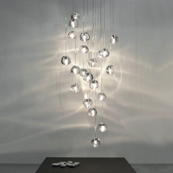 Mizu 15 Rectangular Suspension Lamp, clear