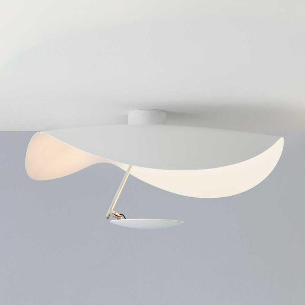 Lederam Manta CWS 1 wall sconce / ceiling light, complete white