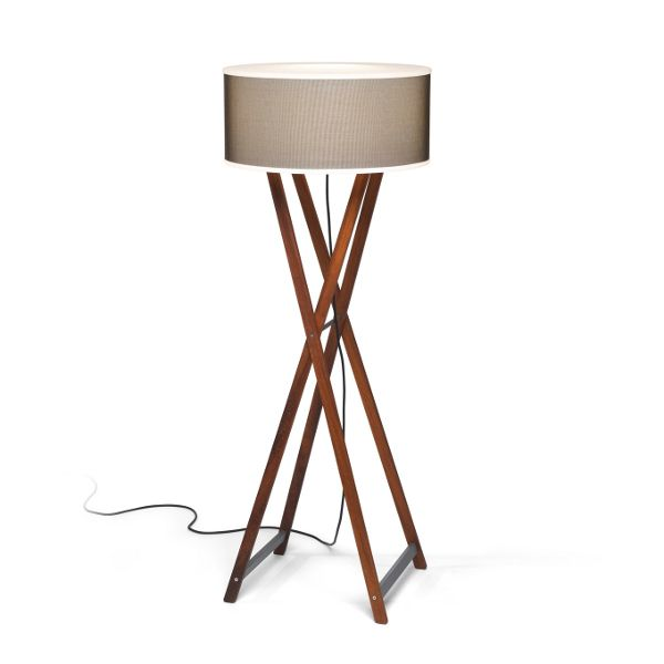 Cala Floor lamp Outdoor in brown-brown