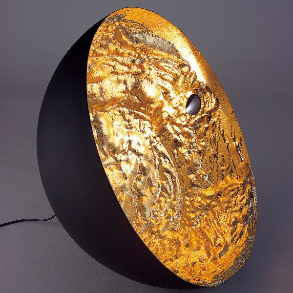 Stchu-Moon 01 floor lamp laminated with gold foil