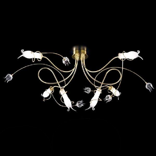 The Giglio 0380/PS6 ceiling light in gold