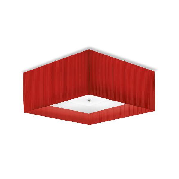 Quadrato 50 Plissee Ceiling Light RED