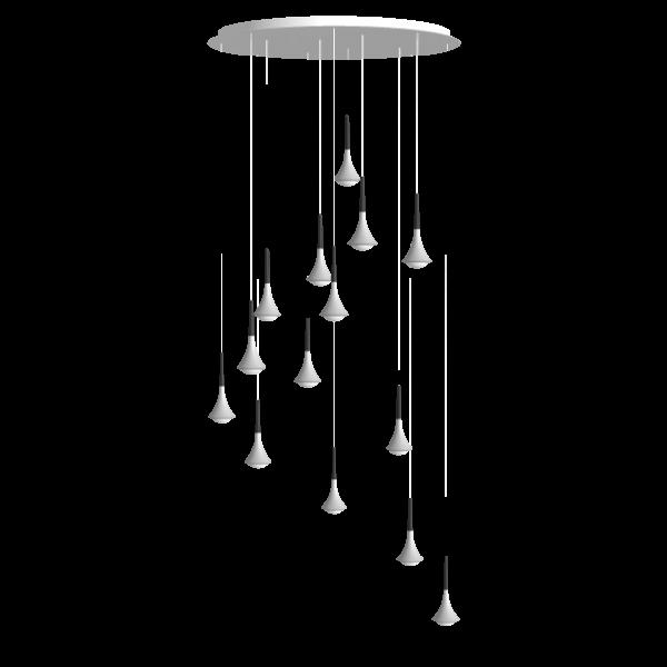 Rain Cluster 14 Lights Round Pendant light