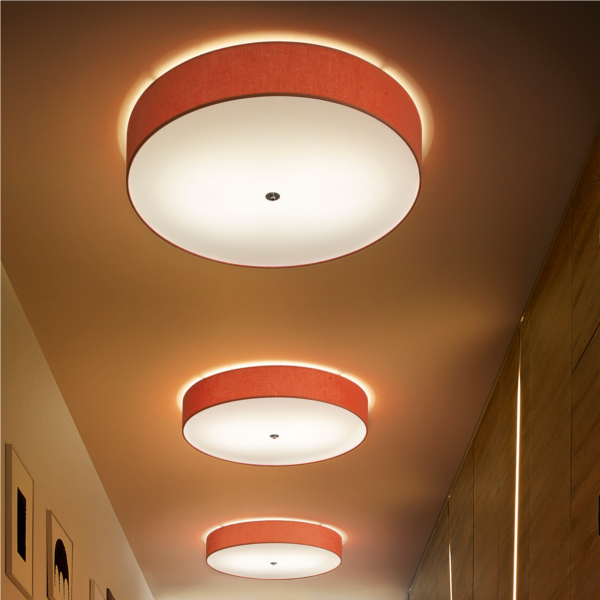 Discovolante E27 D60 Cotton / Polyester Ceiling- and Wall lamp