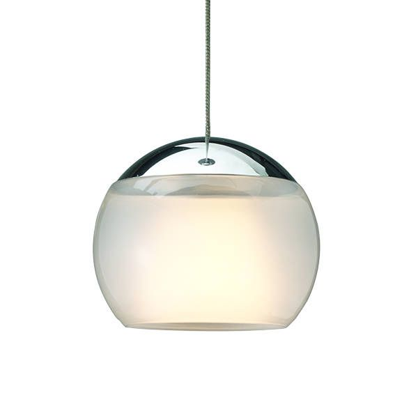 Balino Single LED Pendant light, satin/chrome