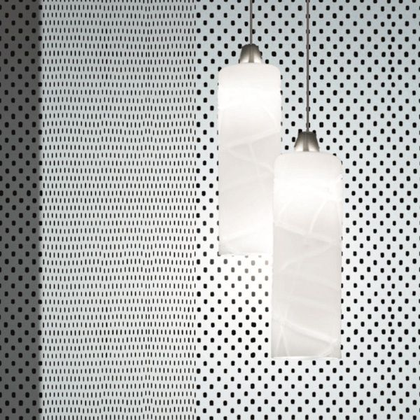 Follia SP 3 P Pendant light, white with crystal threads