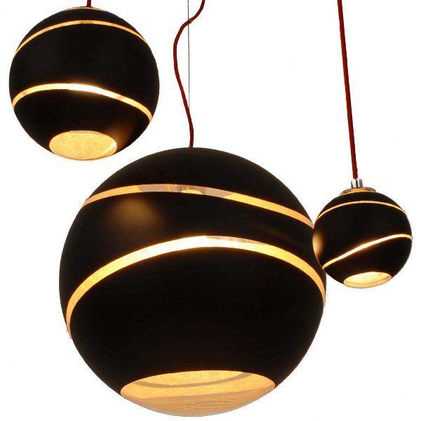 The black-gold Bond pendant light in three sizes