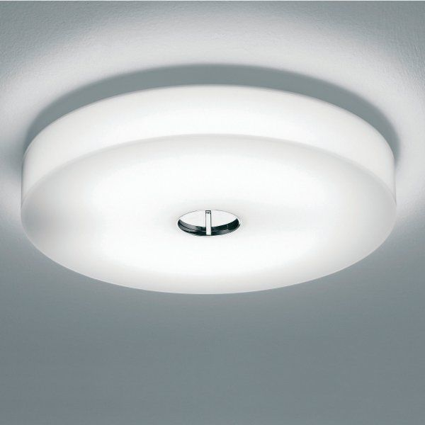 Button wall sconce / ceiling light in white