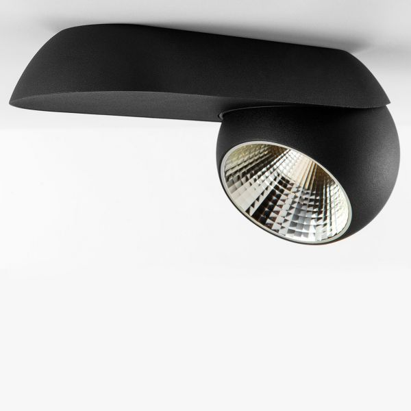 Marbul Single Wall- and Ceiling light, black