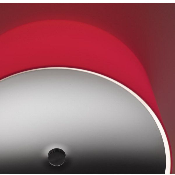 Round PP Glass Ceiling/Wall light, red with lense