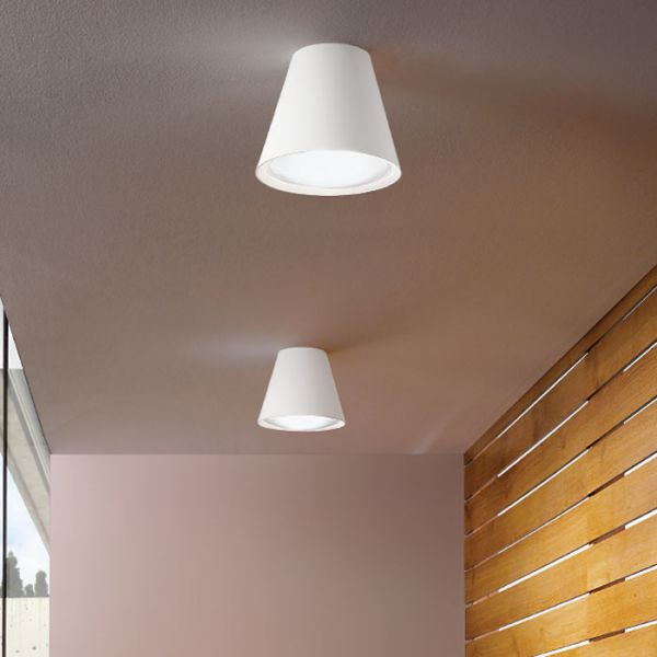 Conus Ceiling Light With White Finish
