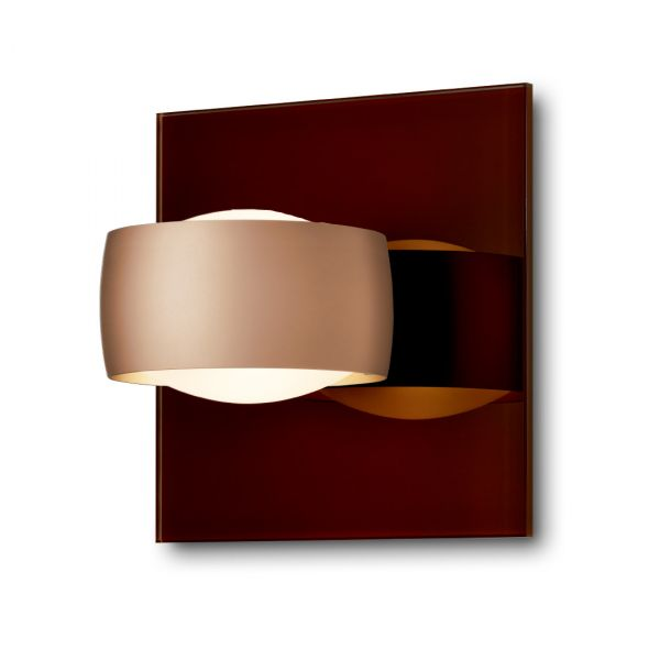Grace Unlimited LED wall sconce, tobacco /  Satin Copper