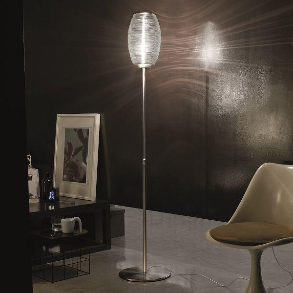 Damasco PT G floor light, crystal